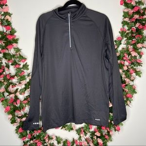 Crane Mens Gray Athletic 1/2 Zip Large Pullover